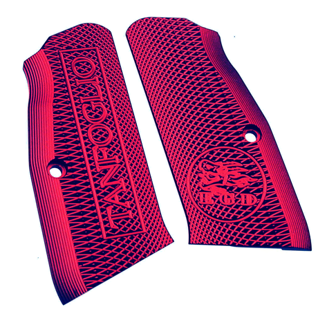 Tanfoglio: Red Aluminum Grips Small Frame with Magwell (X016)