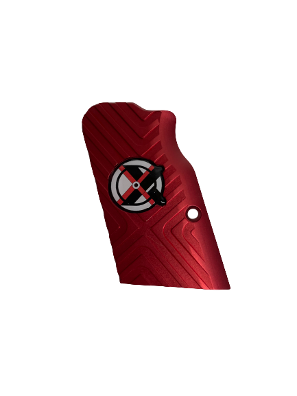 Tanfoglio: Red Aluminum Grips Large Frame with Magwell (X016)